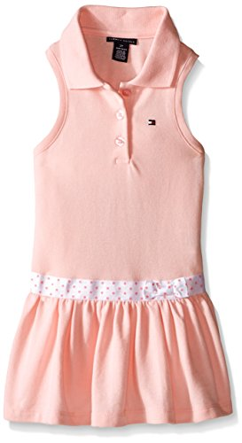 Tommy Hilfiger Baby-Girls Pique Knit Pink Dress with Panty, Pink, 3-6 Months