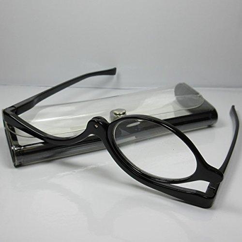 Praktische Schminkbrille Lesebrille +2,0 Diop. Schwarz Schminkhilfe