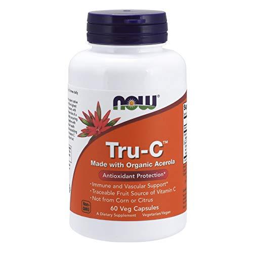 Now Foods Tru-c Organic Acerola Veg Capsules, 60 Count