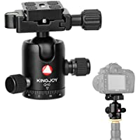 "Papaler Q10 Tripod Ball Head 360 Degree Fluid Rotation Tripod Ballhead Heavy Duty Photography Camera Tripod head with 1/4"" Screw QR Plate for DSLR Cameras Camcorders Tripods Monopods"