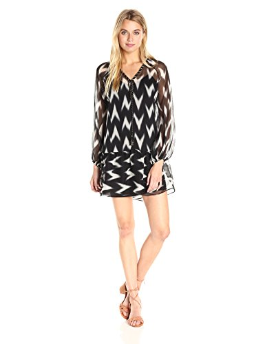 Boho-Chic Vacation & Fall Looks - Standard & Plus Size Styless - Rachel Zoe Women's Carolina Dress, Black/White