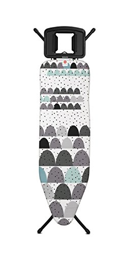 Brabantia Ironing Board B, Iron Tray Solid, Steel Frame 22mm, Dunes/ Black, 103483 by Brabantia