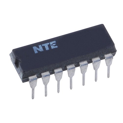 NTE Electronics NTE4011B Integrated Circuit CMOS, Quad 2-Input NAND Gate, 14-Lead DIP Package, -0.5 to +18.0V VDD ()