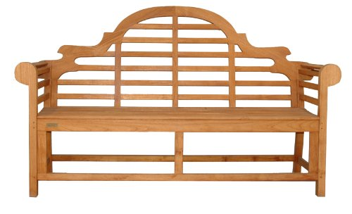 Teak Marlboro Lutyens Bench 3 Seater For Sale