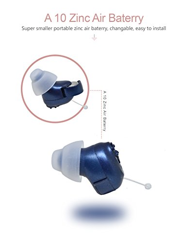 Super Mini,Dark Blue,in-The-Canal (ITC),2-Pack New Digital Hearing Amplifier, Clearly Technology, Interchangeable, Suitable for Men and Women, Trademark: Easyuslife by EASYUSLIFE (Image #5)