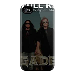 Bumper Cell-phone Hard Cover For Iphone 4/4s (qLW6295ndcS) Custom Realistic Megadeth Band Series