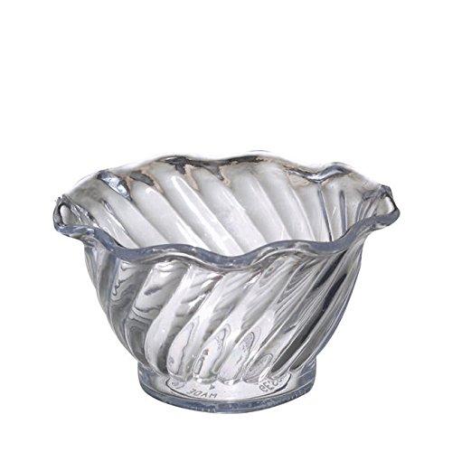 Dessert Merchandiser (Gessner Products Company 0345 Swirl Dessert Bowl Clear 5 oz (SET OF 24 PER CASE))