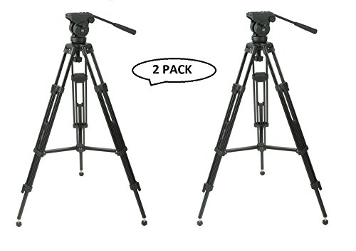 Magnus VT-3000 Professional High Performance Tripod System with Fluid Head (2 Pack) by Magnus