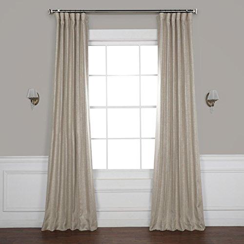 HPD HALF PRICE DRAPES BOCH-LN1857-96 Faux Linen Blackout Room Darkening Curtains, 50 X 96, (Best Drapes)