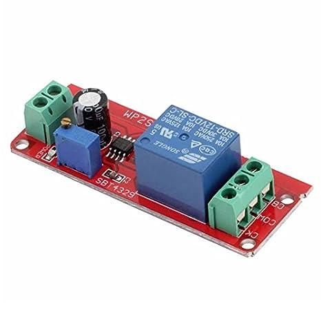 Schema Elettrico Per Temporizzatore : Modulo temporizzatore 12v 12vdc timer con ritardo regolabile ne555