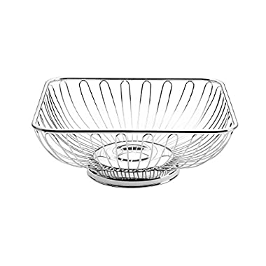 Towle Living Square Wire Basket, Silver