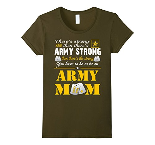 Womens Army moms T-shirts Large Olive Army Mom Green T-shirt