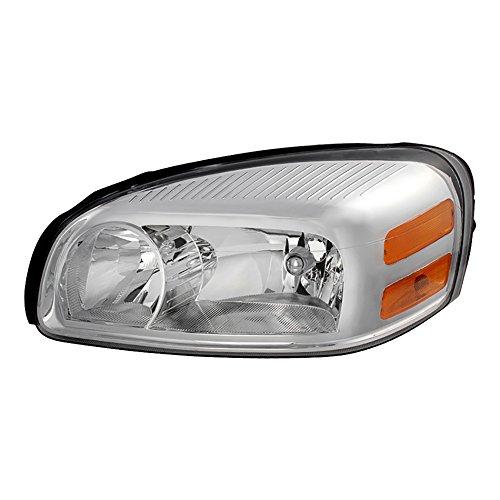 Chevy Uplander Headlight Lamp - VIPMOTOZ Chrome Housing OE-Style Headlight Headlamp Assembly For 2005-2009 Chevy Uplander Pontiac Montana Buick Terraza Saturn Relay, Driver & Passenger Side