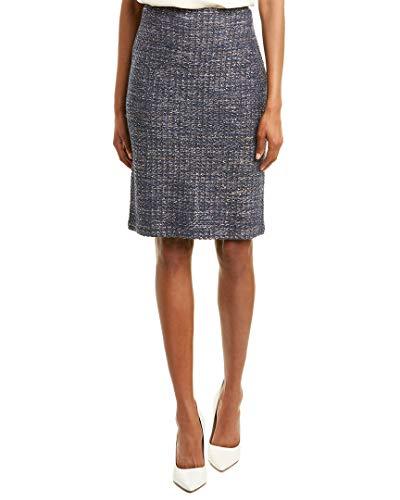 St. John Womens Sequin Tweed Pencil Skirt