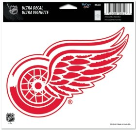 NHL Detroit Red Wings Multi-Use Colored Decal, 5