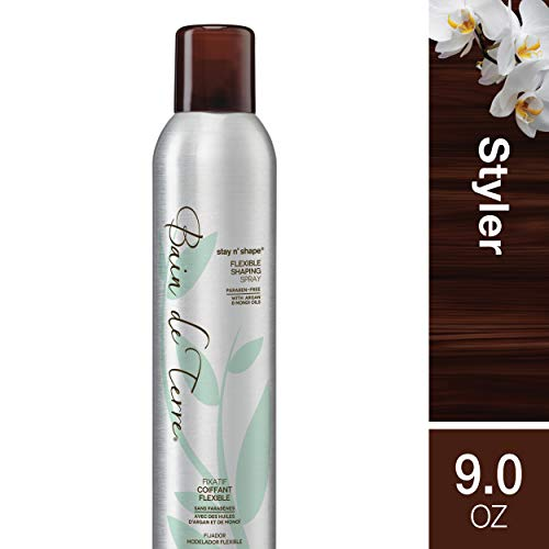 (Bain de Terre Stay 'n Shape Flexible Shaping Spray, Hold Level 3, Paraben-Free, 9-Ounce)