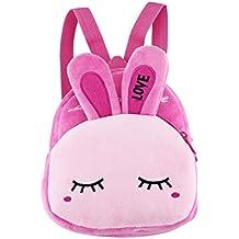 Mini Kids Backpack,Little Girl Toddler Backpack Kid Backpack 3D Pink Rabbit Girl Cute Snack Children Animal Backpack Bag