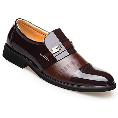 e884d023 Poplover Hombre Zapatos De Vestir Planos Oxford Zapatos de Cuero ...