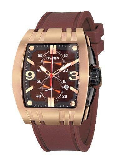 2a0180ff2a63 Haurex Italy 3r326umn Mens Mangusta Cronógrafo Brown Dial Reloj  Amazon.es   Relojes