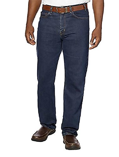 Kirkland Signature Men's Relaxed Waist Jeans (Denim Blue Wash