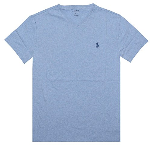 Polo Ralph Lauren Men's Classic Fit V-Neck T-Shirt (Small, Jamaica Blue)