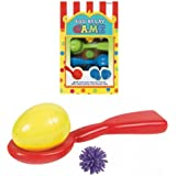 Super Fun Egg Relay Birthday Party Game, Multicolored