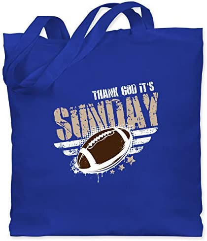 Shirtracer - American Football - Thank God Its Sunday Football - Stoffbeutel aus Baumwolle Jutebeutel lange Henkel
