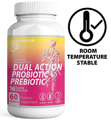 Nourish Labs Organic Prebiotics and Probiotics for Women. Clinically Proven Mood Boosting Dual Action Probiotics with Prebiotics and Cranberry. No Refrigeration Needed. (Best Mood Boosting Supplements)