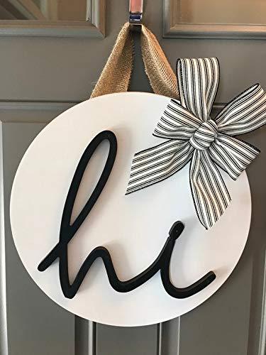 Attrayant Door Decor, Black And White Door Hanger, Modern Door Wreath, Door  Decoration,