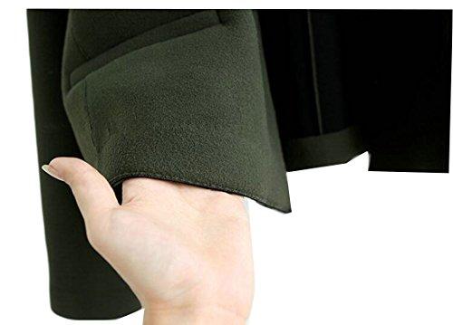 Molle Cappotto Sottile Lana Parka Misto Militare uk Verde Monopetto Delle Base Breve Donne Oggi Delle Peluche Di p5wFfxq