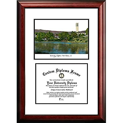 Image of Campus Images CA936V UC Santa Barbara Scholar Diploma Frame, 8.5' x 11' Document Frames