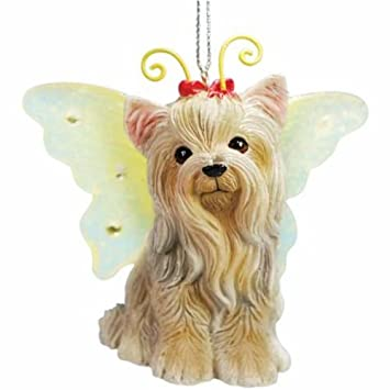 Amazon Com 2 5 Inch Yorkshire Terrier Puppy With Fairy Wings