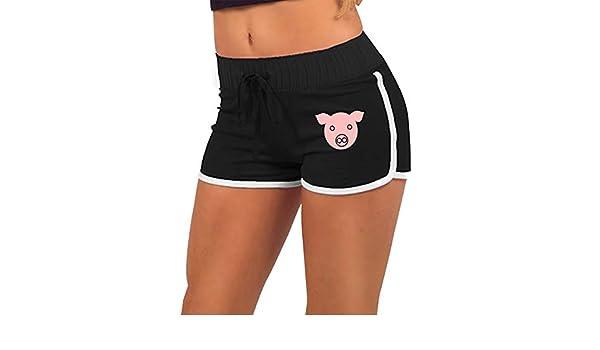 Rhythmic Gymnastics of Pigs Mens Casual Shorts Pants