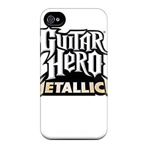 Shock Absorbent Hard Phone Covers For Iphone 4/4s With Custom High-definition Metallica Pictures CharlesPoirier