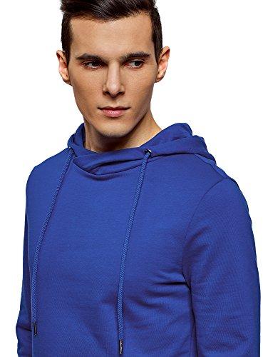 Uomo Oodji Maglia Ultra Hoodie Basic Tasca Blu 7500n Con nxpnrwa6