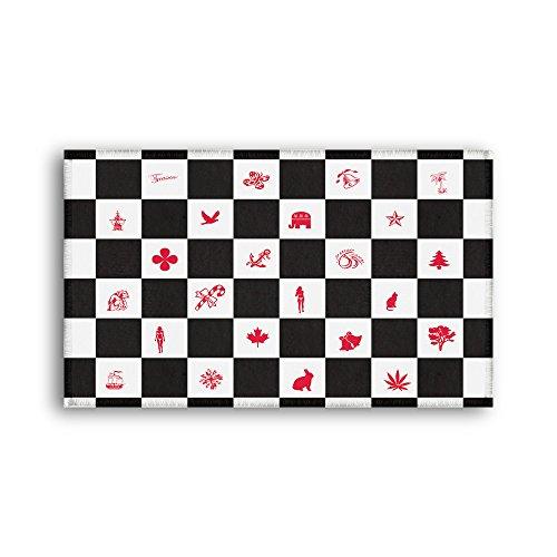 Bathroom Rug Black White Checks With Racing Flag Design Bathmat, Maple Leaves Butterfly Bell Star Tree Bikini Girl Cat Elephant Boat Rabbit Doormat Bedroom Floor Carpet Size: 20x31Inch (50x80cm)