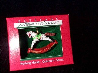 Miniature Rocking Horse 1st in the series 1988 hallmark ornament