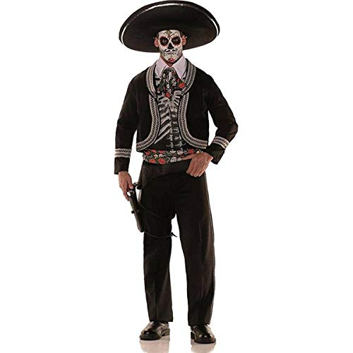 Men's Plus Size Day of the Dead Costume - -