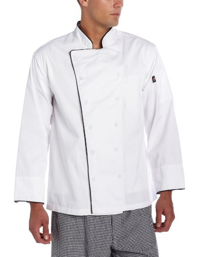 Dickies Men's Bruno Executive Chef Coat, White, X-Large - Executive Chefs Jacket