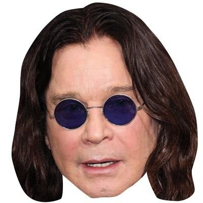 Ozzy Osbourne Celebrity Mask, Cardboard Face and Fancy Dress Mask (Fancy Face Masks)
