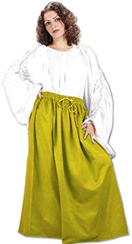 Medieval Renaissance Pirate Eleanor Cotton Skirt Costume [Gold] (Eleanor Cotton Skirt)