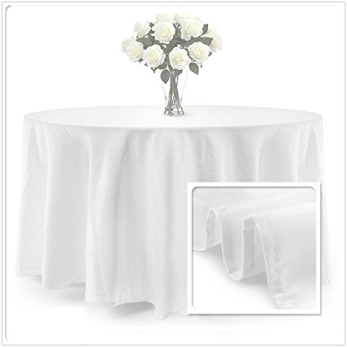 - BalsaCircle TRLYC 120-Inch Round Polyester Tablecloth 100% Polyester Wedding Table Linen