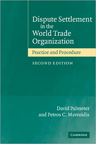 Book Dispute Settlemement in WTO 2ed: Practice and Procedure