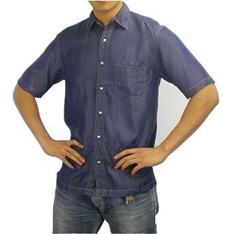 d0939f3e5b Mens Tommy Bahama Indigo Palms blue denim style short sleeve shirt. 100%  authentic designer casual ...