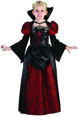 Disfraz de vampiro niña Halloween 7-9 años (122/134): Amazon.es ...