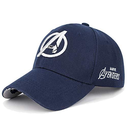 - Marvel Unisex Baseball Cap with Raised Embroidered Logo Printing on Hat Navy Blue 2 OneSize