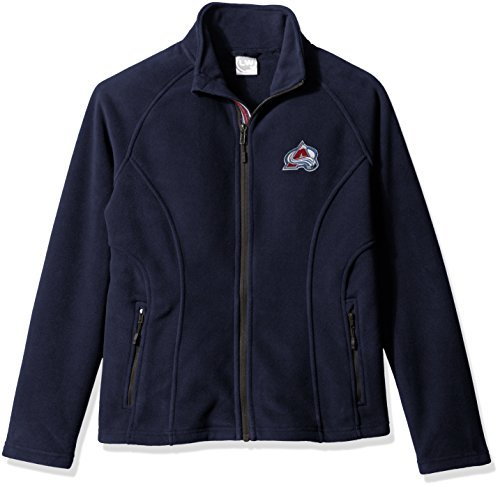 NHL Colorado Avalanche Women's Luxury Team Script Full Zip, Large, Navy