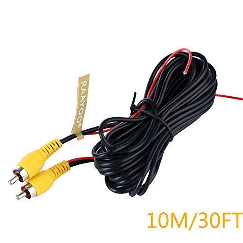 Reverse Trigger Wire For Backup Camera: RCA Video Cable Wire For Backup Camera (10M/30FT