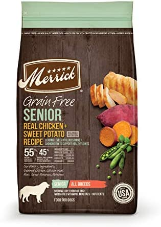 Merrick Senior Grain Free with Real Meat Sweet Potato Dry Dog Food