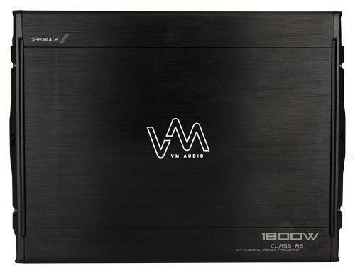 VM Audio SRA1800.2 1800W 2 Channel Car Amplifier Power Amp + 4 Gauge Wiring Kit